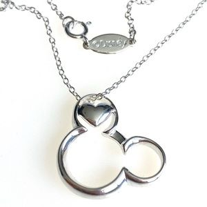 Disney Mickey Mouse 925 Sterling Silver Heart
